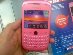 Pink BlackBerry Curve 9300 exclusive to Phones 4 U