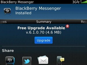 BlackBerry Messenger bumped up to version 6.1.0.70, fixes group updates and map issues
