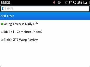 Using BlackBerry Tasks in everyday life