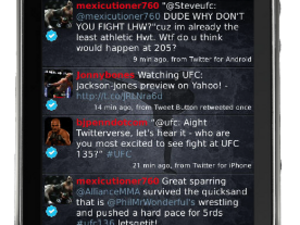 Tweet with a punch through the new UberWarrior theme for UberSocial