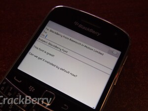 Install the BlackBerry fonts on your BlackBerry device today!