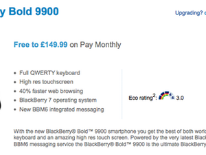 BlackBerry Bold 9900 now available from O2 UK