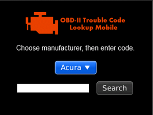 Check those pesky OBD-II trouble codes from anywhere with your BlackBerry