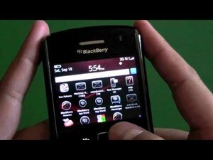 Quick look at BlackBerry 6 running on the BlackBerry Bold 9650 [video]