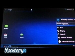 Honeycomb and Ice Cream Sandwich Launchers running on BlackBerry PlayBook
