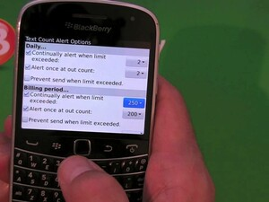 Keep an eye on your SMS allowance with Text Count Alert for BlackBerry smartphones
