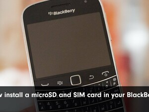 How to Install the SIM Card and MicroSD Memory Card into a BlackBerry Smartphone