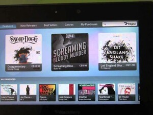BlackBerry PlayBook Music App & 7 Digital Music Store on the BlackBerry PlayBook