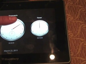 BlackBerry PlayBook Native Clock App First Look!