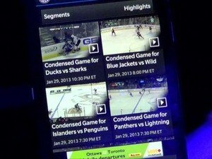 Hockey Night in Canada brings scores, news and more to BlackBerry 10