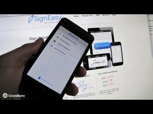 Sign documents straight from your BlackBerry 10 smartphone with SignEasy and save a tree!