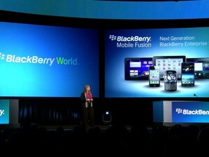 RIM CIO Robin Bienfait takes the stage at BlackBerry World 2012