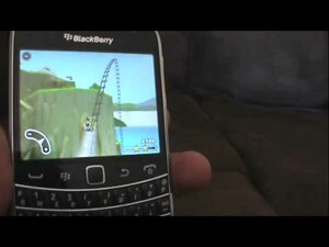 A Quick look at 3D Rollercoaster Rush Jurassic 2 running on a BlackBerry Bold 9900