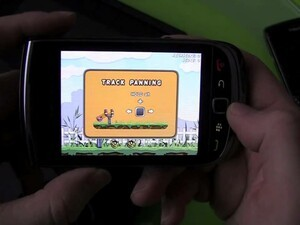 Angry Farm for BlackBerry Video Review (with Comparison to Angry Birds on iPhone/iPad)