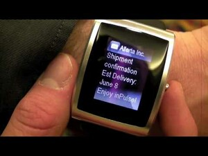 WES 2010: inPulse Smartwatch for BlackBerry Video Demo