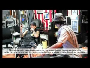 New BlackBerry Messenger in Indonesia Video: HellBobs Tattoo