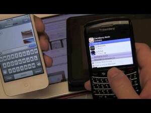 Head to Head Video: BlackBerry Messenger vs. Apple iMessage!