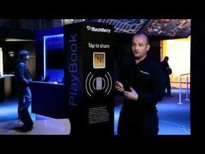 BlackBerry stations at Mobile World Congress powered by NFC