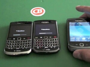 BlackBerry Smartphone reboot test - Bold 9700 vs. Bold 9650 vs. Torch 9800