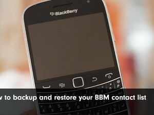 How to back up and restore your BBM contact list