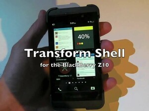 First Look: Transform Shell for the BlackBerry Z10
