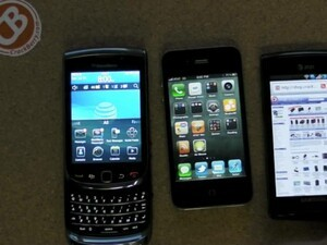 Comparison: New BlackBerry WebKit Browser vs. the Competition (iPhone 4 and Samsung Captivate)