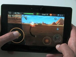 Eat the bad dudes with Death Worm for the BlackBerry PlayBook