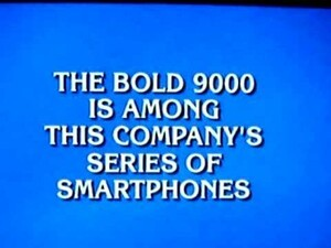 WTF?! Even Jeopardy Doesn't Know That Research in Motion is the Company That Makes BlackBerry Smartphones...