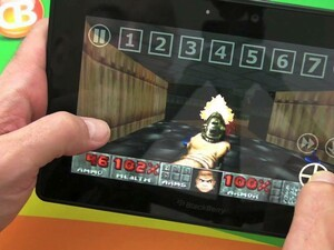 It's retro gaming time with DoomGLES for the BlackBerry PlayBook