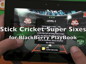 Can you beat the Bowlomatic 3000 with Stick Cricket Super Sixes for the BlackBerry PlayBook