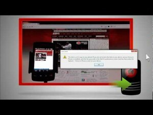 Share Web pages between your PC and BlackBerry with Home to Phone