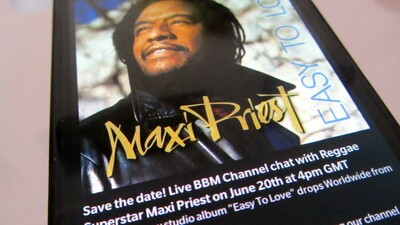 Chat with Reggae star Maxi Priest on BBM Channels