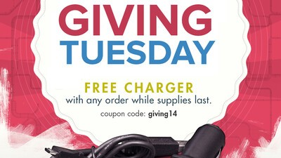 Receive a free USB car charger with any order today while supplies last!