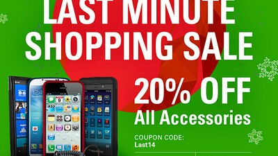 Last minute shopping sale! Save 20% on all BlackBerry accessories