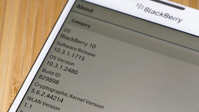 Leaked BlackBerry Passport OS 10.3.1.2480 upgrade files now available