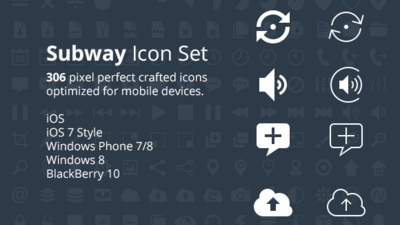 Subway icon set