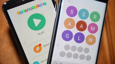 WordBubbles is a challenging word game with a twist