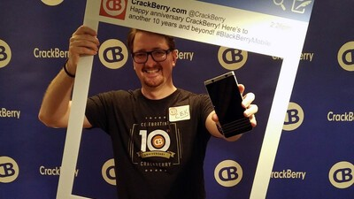And the winner of an IOU for a BlackBerry KEYone from CrackBerry Kevin is...