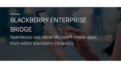 BlackBerry and Microsoft team up to introduce BlackBerry Enterprise Bridge