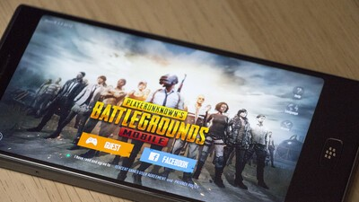 PUBG Mobile for Android beta on the BlackBerry Motion