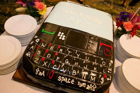 The ultimate BlackBerry birthday cake!