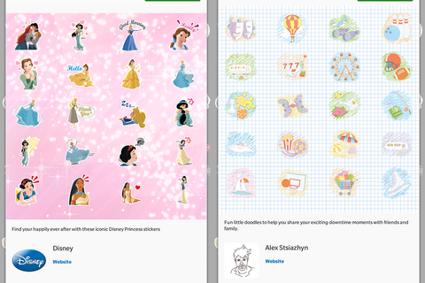 New BBM Stickers: Disney Princess Collection and Play