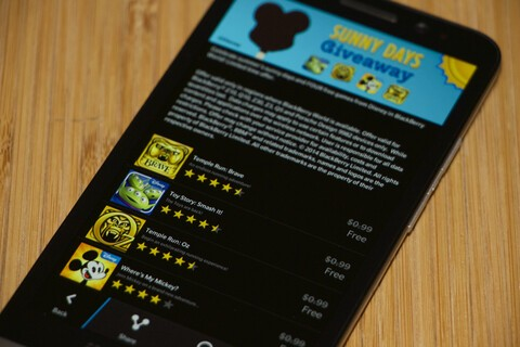 Disney hosting 'Sunny Days Giveaway' with four free games in BlackBerry World