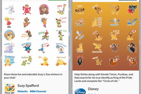 Lion King and Suzy's Zoo stickers arrive in the BBM Shop!