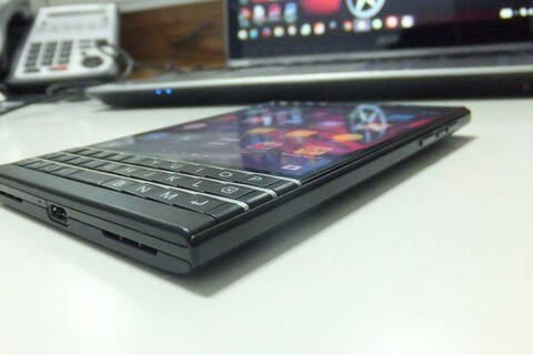 This solid black version of the BlackBerry Passport is hot!
