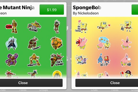 Cowabunga! TMNT and Sponge Bob stickers arrive in the BBM Shop!