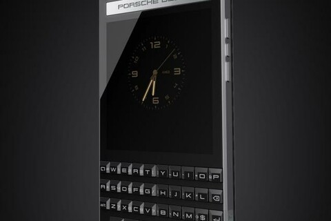 BlackBerry shows off the first official image of the Porsche Design P'9983
