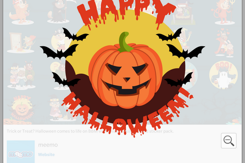 Add some spooky fun to your BBM with a new Halloween sticker pack