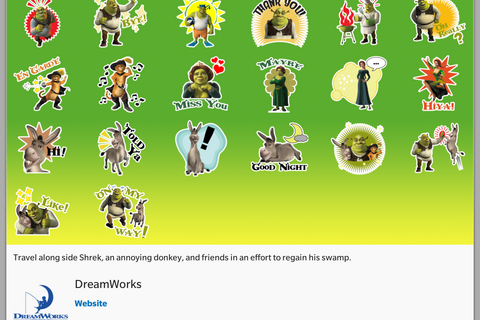Shrek, How To Train Your Dragon and Thanksgiving stickers now available
