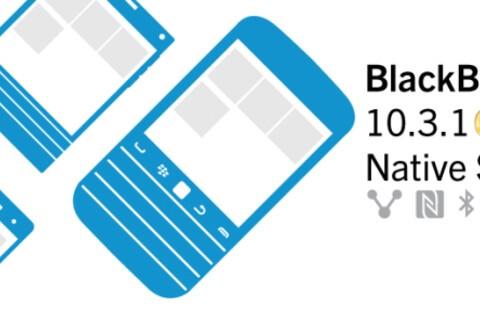 BlackBerry 10.3.1 Native SDK goes gold